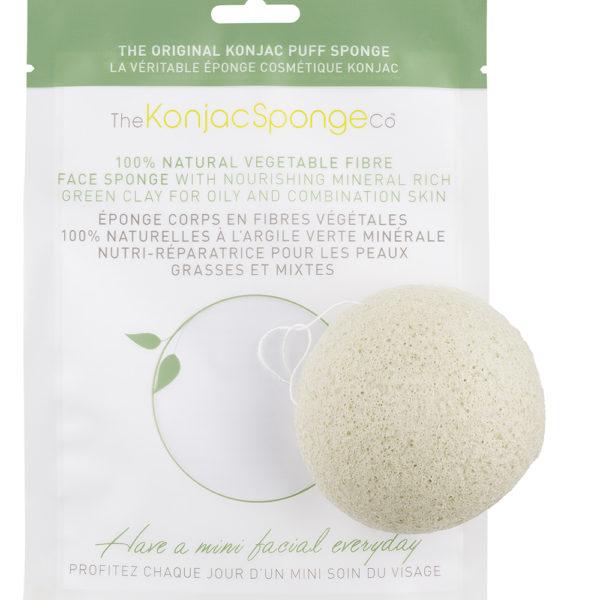 green-facial-sponge